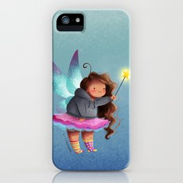 the lazy fairy godmother iPhone Case