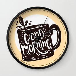 GOOD MORNING - COFFEE TIME Wall Clock