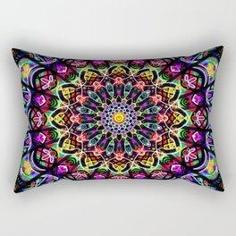 PSYCHEDELIC EARTH MANDALA Rectangular Pillow