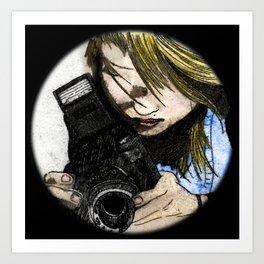 Me and my camera / Mi cámara y yo Art Print