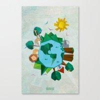 planet Canvas Prints featuring Planet by Design SNS - Sinais Velasco