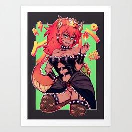 bowsette redhead Art Print