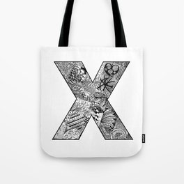 Cutout Letter X Tote Bag