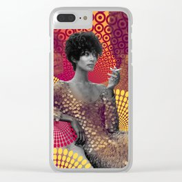 Supermodel Donyale 2 - Supermodels of the Sixties Series Clear iPhone Case