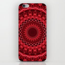 Rich mandala in red tones iPhone Skin