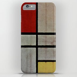 Piet Mondrian Composition with Red, Yellow and Blue iPhone Case