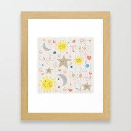 Sleepy Alphabet Framed Art Print
