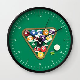 Billiard Balls Rack - Boules de billard Wall Clock