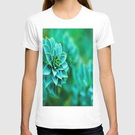 Green Succulent Mandala T-shirt
