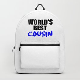 the worlds best cousin funny saying Backpack