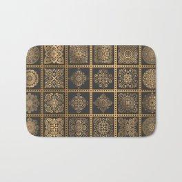 Copper Mandala Quilt Bath Mat