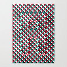 Typoptical Illusion A no.4 Canvas Print