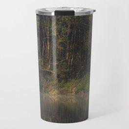 Autumnal woodland reflections Travel Mug