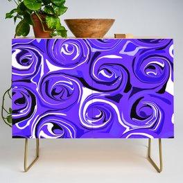Bright Blue Violet Swirls Credenza