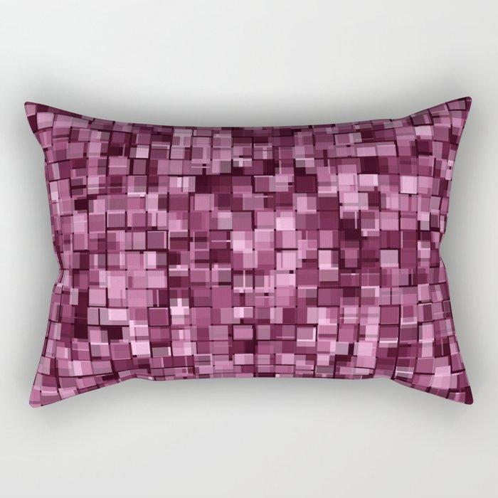 Burgundy glitter Rectangular Pillow
