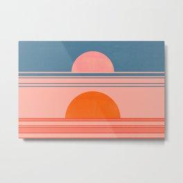 Abstraction_SUN_HORIZON_LINE_POP_ART_Minimalism_009D Metal Print