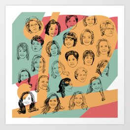 24 Female CEOs Art Print