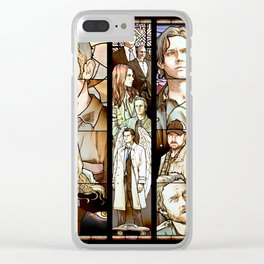 Supernatural Stained Glass Clear iPhone Case