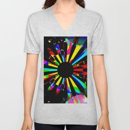 Rainbow dartboard Unisex V-Neck