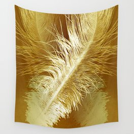 Golden Ostrich Wall Tapestry