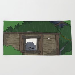 Rain Beach Towel