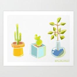 Cutie Cacti Art Print