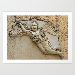 Mysterious Angel Art Print