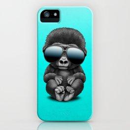 Cute Baby Gorilla Wearing Sunglasses iPhone Case