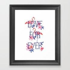 love forever print Framed Art Print