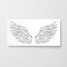 Polygonal wings Metal Print