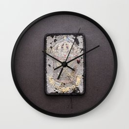 Rugged Coat of Arms (backside) Wall Clock
