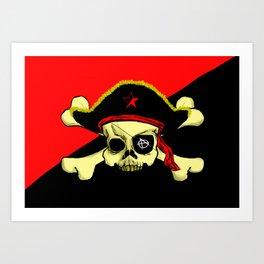 Anarchist pirate flag Art Print