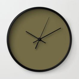 Olive Drab Wall Clock