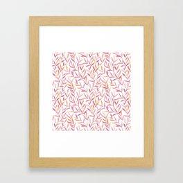 Lavender And Amber Leaves Pattern Framed Art Print