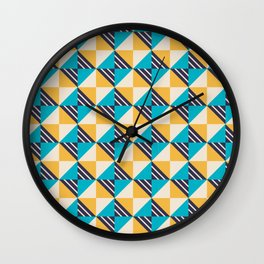 Isometric Pattern Wall Clock