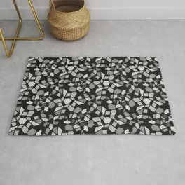 ROUTES gradient black grey abstract pattern Rug