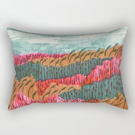 Quiet Place brush pen illustration by Amanda Laurel Atkins Rectangular Pillow
