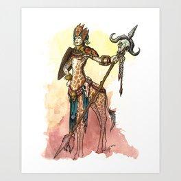 African Centaur Art Print