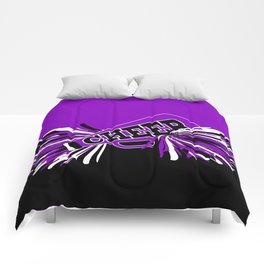 Purple, Black and White Cheerleader Design Comforters