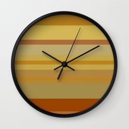 Desert Stripes Wall Clock