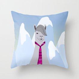 Lama Hipster Design Throw Pillow