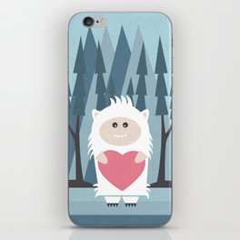 Little Yeti, Big Heart iPhone Skin