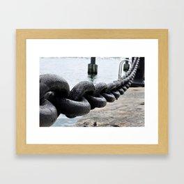 Chains on the Boston Harbor Framed Art Print