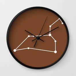 Leo (White & Brown) Wall Clock