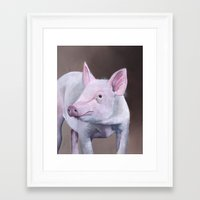 piglet Framed Art Prints featuring Piglet by LouiseDemasi