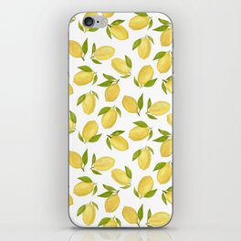 Watercolor lemon pattern iPhone Skin