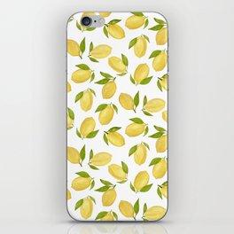Watercolor lemon pattern iPhone Skin