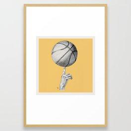 Basketball spin orange Framed Art Print