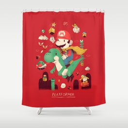 platformer Shower Curtain