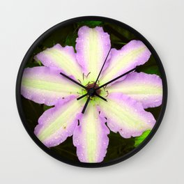 """Clematis 1"" photography by hope Wall Clock"